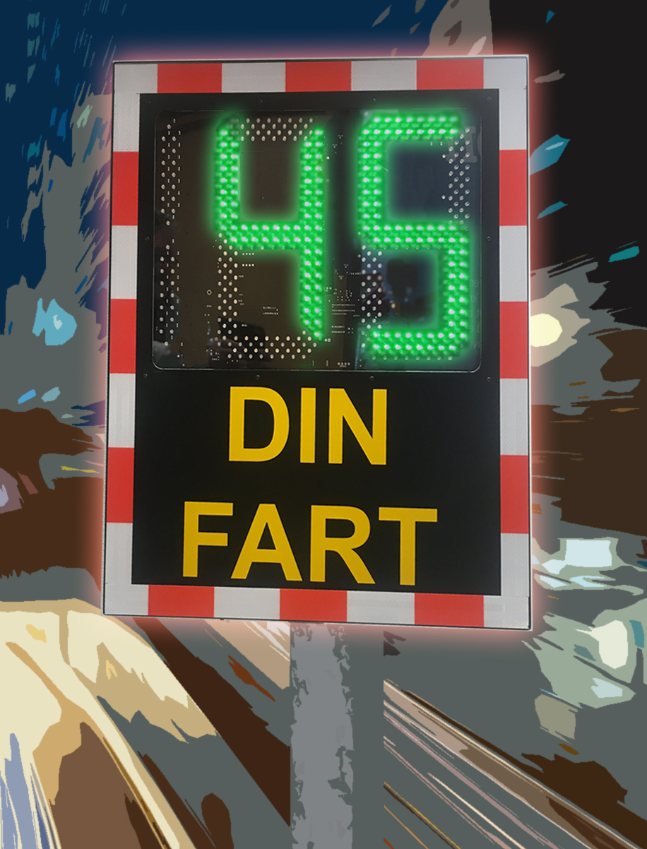 Digitalt hastighetskilt Image